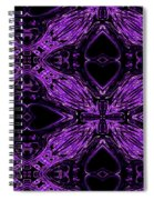 Purple Crosses Connecting Spiral Notebook