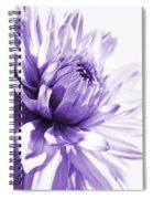 Purple Dahlia Floral Spiral Notebook