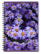 Purple Daisy Abstract Spiral Notebook