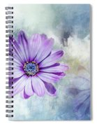 Purple Daisy Swirl Spiral Notebook