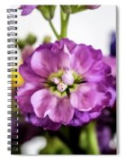 Purple Delphinium Spiral Notebook