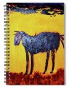 Purple Desert Donkey Spiral Notebook
