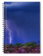 Purple Desert Storm Spiral Notebook