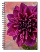 Purple Dhalia Spiral Notebook