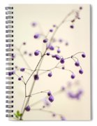 Purple Droplets Spiral Notebook