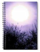 Purple Eclipse Spiral Notebook