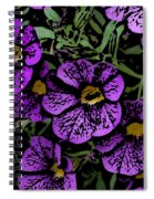 Purple Floral Fantasy Spiral Notebook