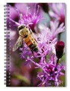 Purple Flower Bee Spiral Notebook