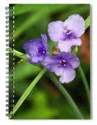 Purple Flower Spiral Notebook