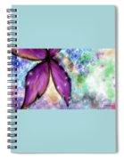Purple Flower Watercolor Doodle Spiral Notebook
