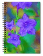 Purple Flowers 102310 Spiral Notebook