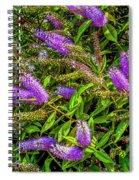 Purple Flowers Of Chiloe Spiral Notebook