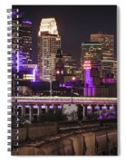 Purple For Prince Spiral Notebook