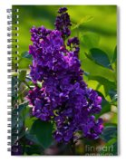 Purple French Lilac Spiral Notebook