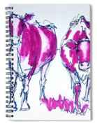 Purple Friesian Holstein Cows Drawing Spiral Notebook