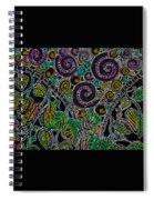 Purple Garden Spiral Notebook