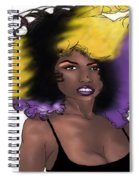 Purple Girl Spiral Notebook