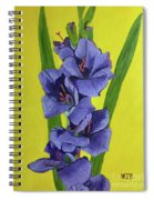 Purple Gladiolas Spiral Notebook