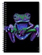 Purple Green Ghost Frog Spiral Notebook