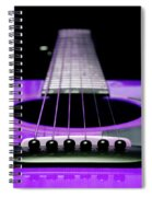 Purple Guitar 15 Spiral Notebook