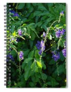 Purple Hanging Flowers Spiral Notebook