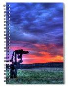 Purple Haze Sunrise The Iron Horse Spiral Notebook