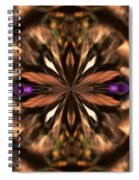 Purple Heart Design Spiral Notebook