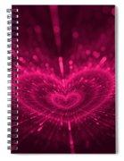 Purple Heart Valentine's Day Spiral Notebook