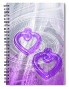 Purple Hearts Spiral Notebook