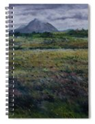 Purple Heather And Mount Errigal From Dore Co. Donegal Ireland   Spiral Notebook