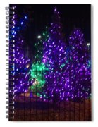 Purple Holiday Lights Spiral Notebook