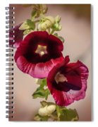 Purple Hollyhock Duo Spiral Notebook