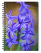 Purple Hyacinths Digital Art Spiral Notebook
