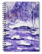 Purple Ice On Kaaterskill Creek Spiral Notebook