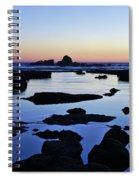 Purple In Gale Beach. Algarve Spiral Notebook