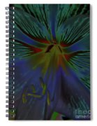 Purple In The Lily Spiral Notebook