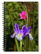 Purple Iris And Gladioli Byzantinus Spiral Notebook