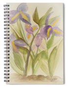 Purple Iris Watercolor Spiral Notebook