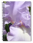 Purple Irises Artwork Lavender Iris Flowers 13 Botanical Floral Art Baslee Troutman Spiral Notebook