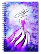 Purple Lady Charm Spiral Notebook