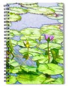 Purple Lotus Flower  Spiral Notebook