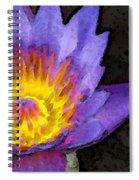 Purple Lotus Flower - Zen Art Painting Spiral Notebook