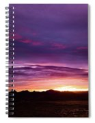 Purple Majesty Sunset Spiral Notebook