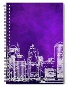 Purple Manhattan Spiral Notebook