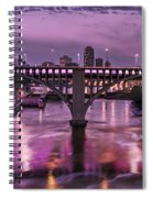 Purple Minneapolis For Prince Spiral Notebook