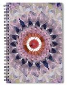 Purple Mosaic Mandala - Abstract Art By Linda Woods Spiral Notebook