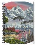 Purple Mountain Lake Spiral Notebook