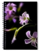 Purple On Black Spiral Notebook