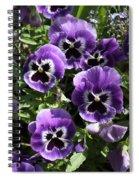 Purple Pansies Spiral Notebook