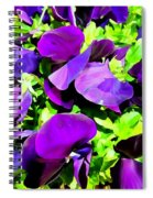 Purple Petals Spiral Notebook